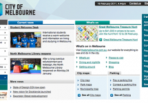 screenshot of the City of Melbourne web site